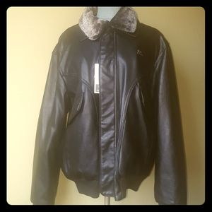 NWT🛍EMPORIO&CO🛍FAUX LEATHER JACKET